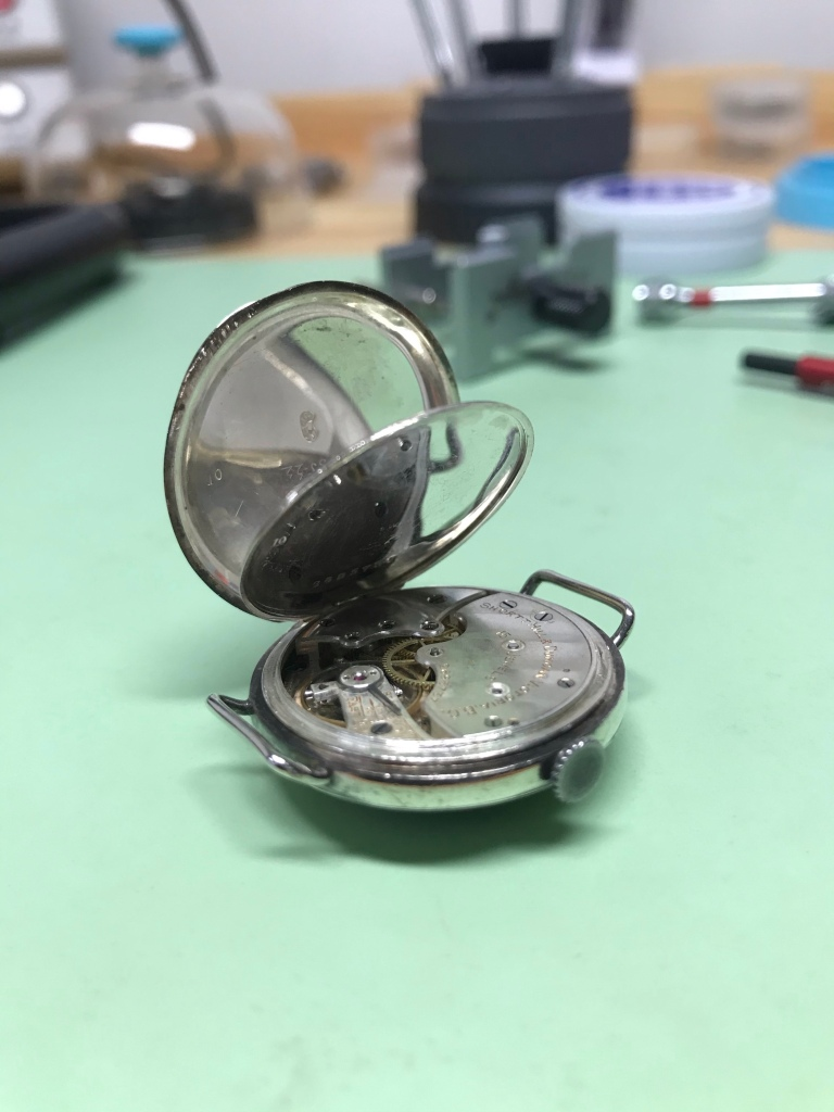 1920s trench longines watch movement