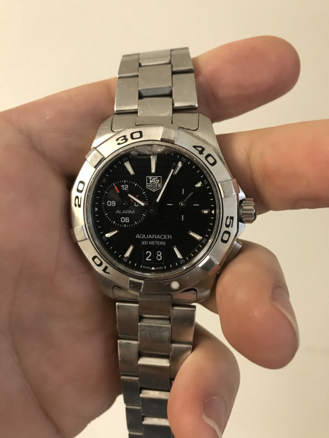 Watch repair Vancouver Tag Heuer Aquaracer before service