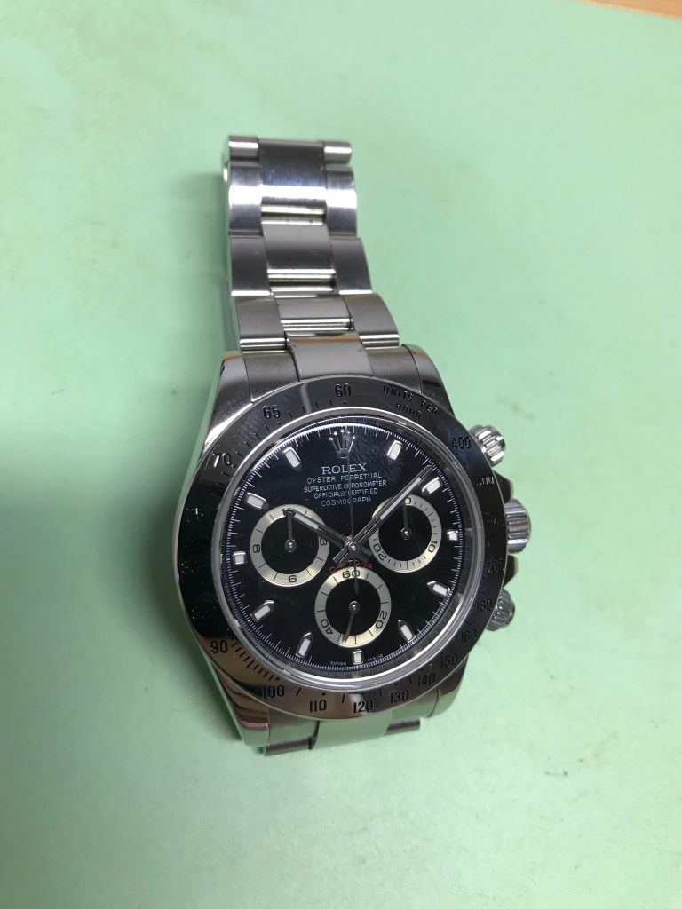 Vancouver watch repair Rolex Daytona original Bezel