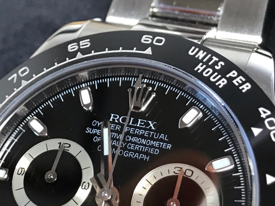 Vancouver watch repair Rolex Daytona Close up