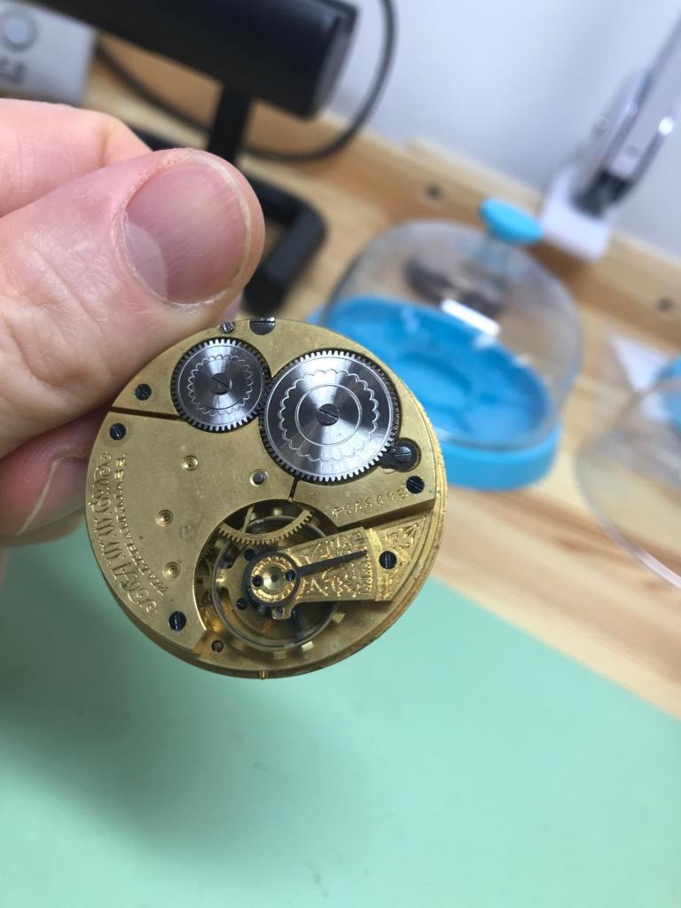 Vancouver watch repair Waltham pocket watch movement