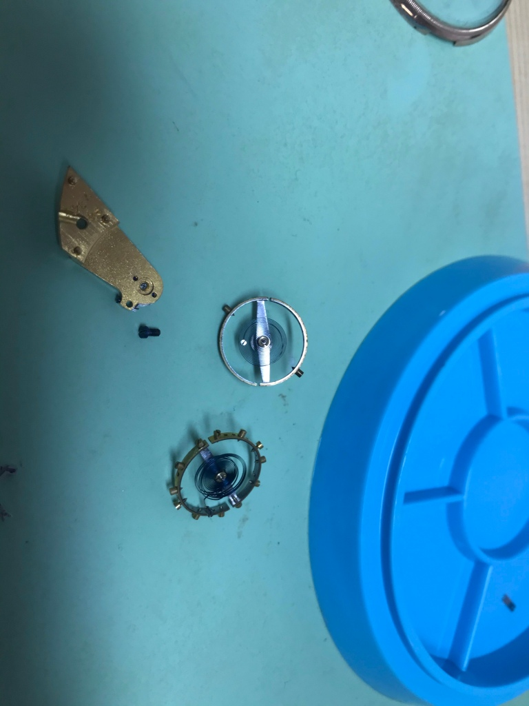 Vancouver watch repair Waltham pocket watch balance and donor hairspirng