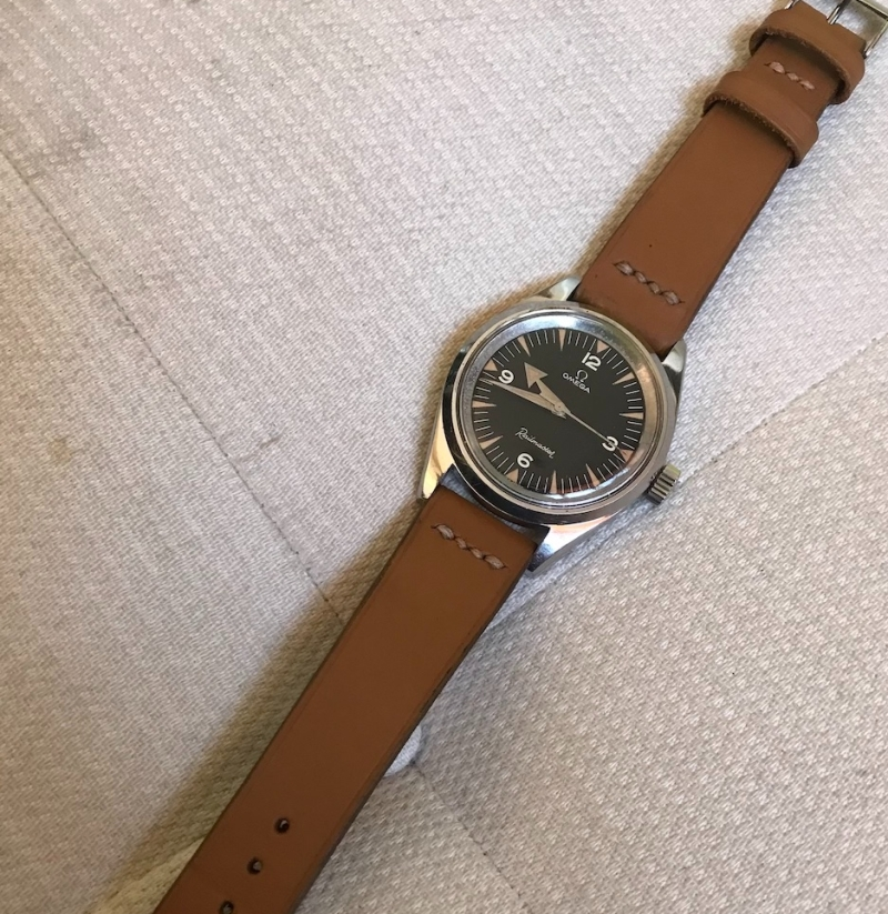 omega railmaster new leather strap watch repair vancouver